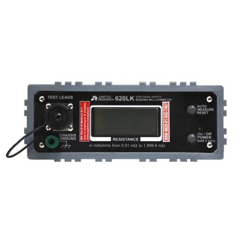 Front Panel of Amptec Research 620LK Bonding Ohmmeter