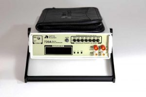 Front View of Amptec Research 720A Micro Ohmmeter and Lead Set Case