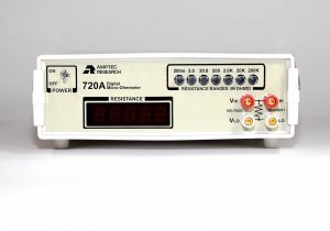 Amptec Research 720A Digital Micro Ohmmeter Front View