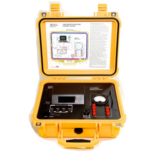 Open View of Igniter Tester in Weatherproof Protective Casing Amptec Research 640N