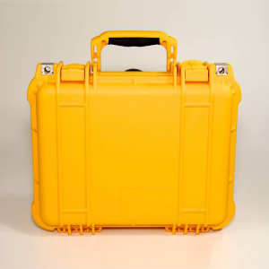Closed Yellow Weatherproof Case for Electrical Resistance Equipment from Amptec Research