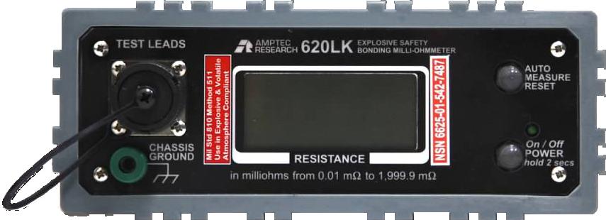 620LK Front Panel of Bonding Ohmmeter