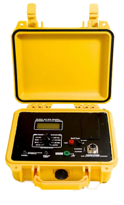 Yellow Case for Weatherproof Igniter Tester from Amptec Research 641RS Model