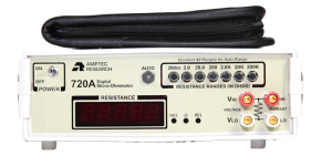 Amptec Research 720A Micro Ohmmeter and Lead Set Case