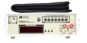 Amptec Research Digital Micro Ohmmeter and Black Lead Set Case