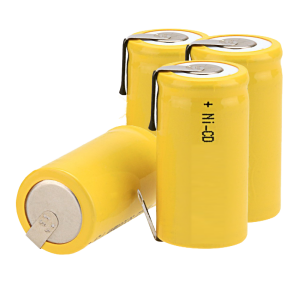 4 Yellow NiCD Batteries for Electrical Testing Equipment