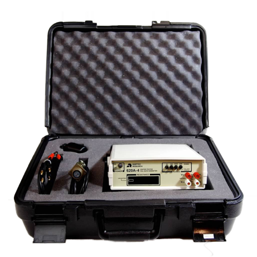 View of Amptec OP-100 Protective Case for Electrical Testing Equipment with Products Inside